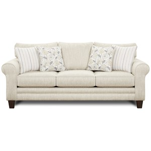 Sleeper Sofa w/ Accent Pillows