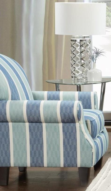 1140 532 Striped Coastal Chair by Fusion Furniture at Furniture Fair - North Carolina