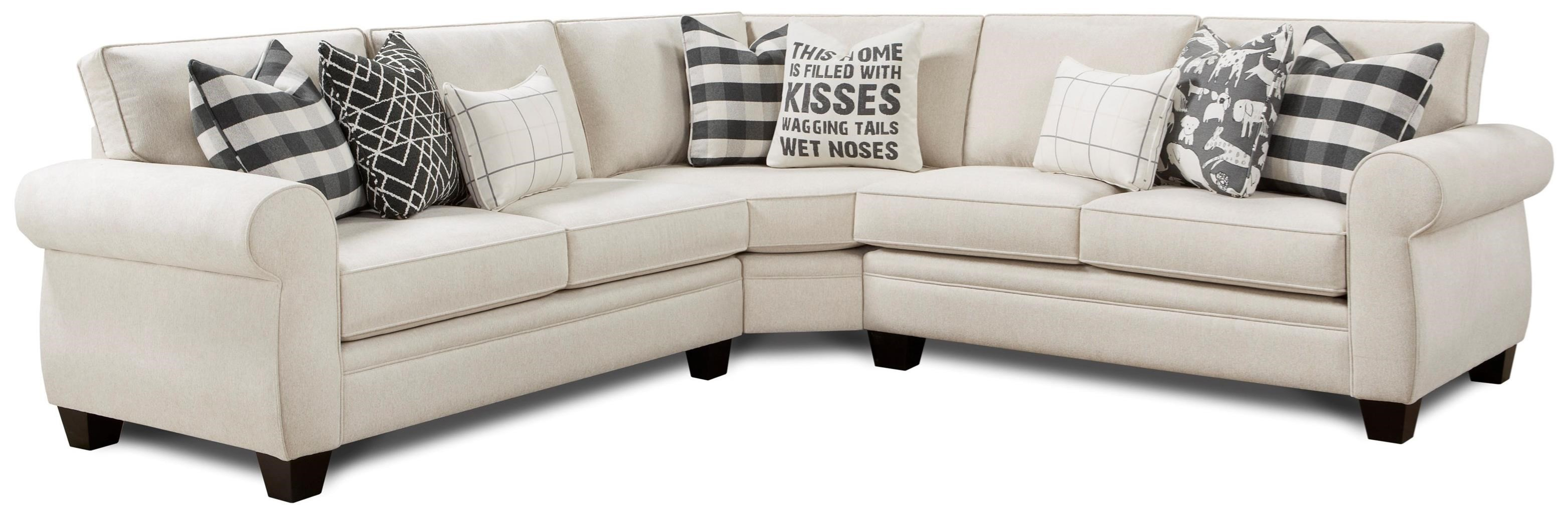 1170 3-Piece Sectional by FN at Lindy's Furniture Company