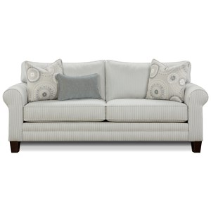 Casual Contemporary Sofa in Performance Fabric