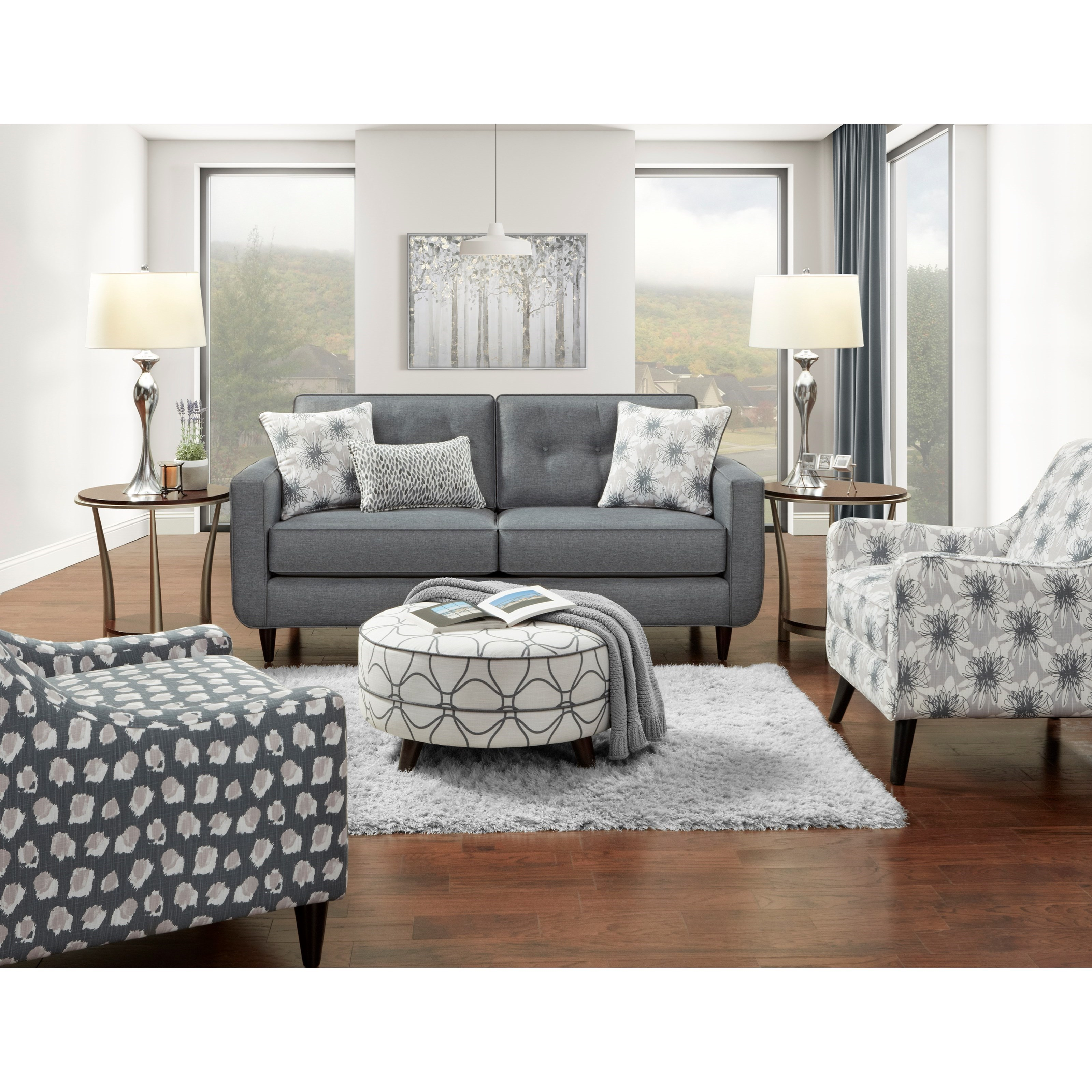 1850 Stationary Living Room Group by Fusion Furniture at Furniture Superstore - Rochester, MN