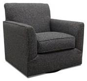 Fusion Furniture Bradley-Cream Branco Charcoal Swivel Chair