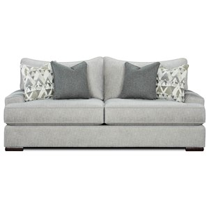 Contemporary Sofa with Flared Track Arms