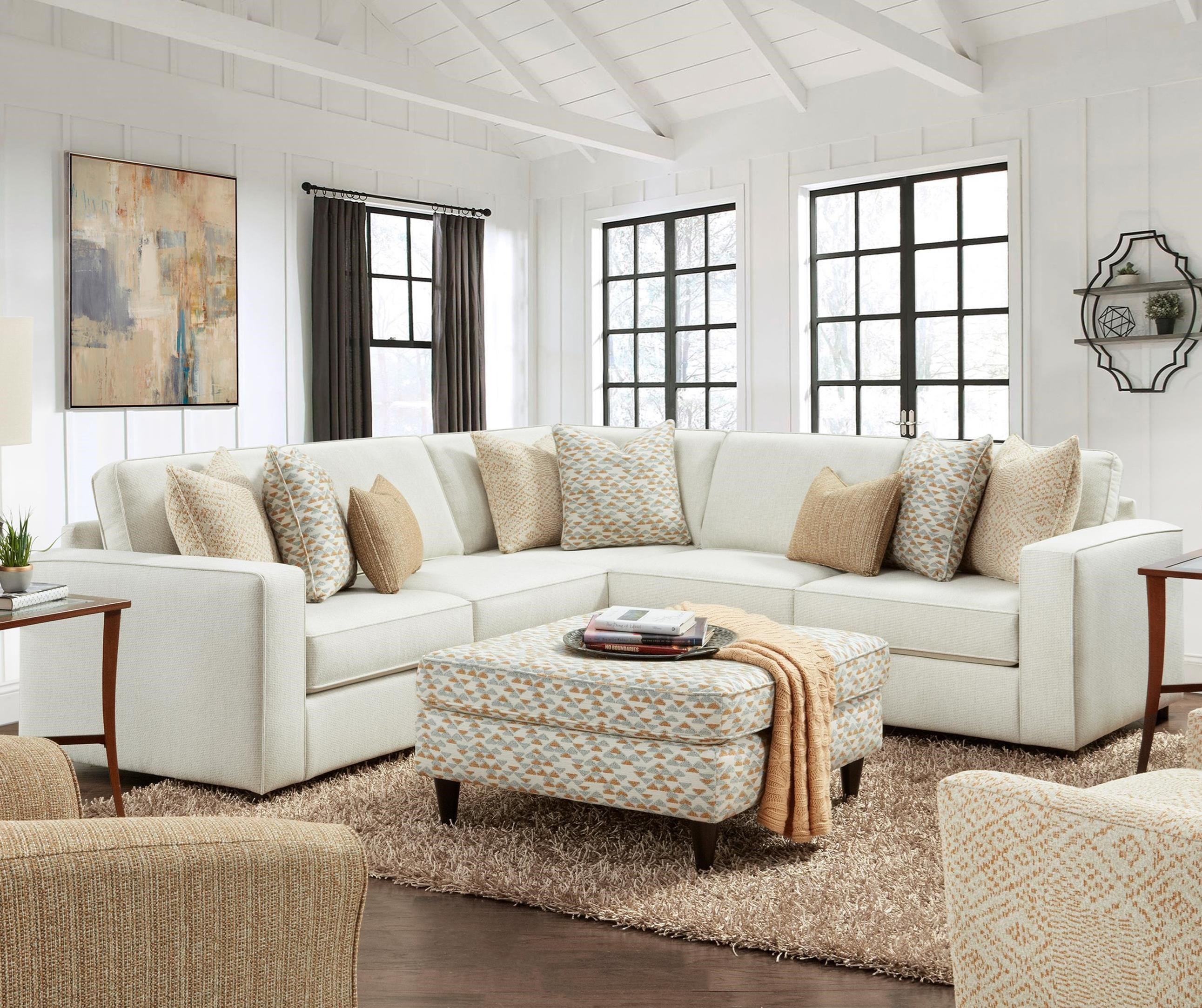 2061 3-Piece L-Shape Sectional by FN at Lindy's Furniture Company