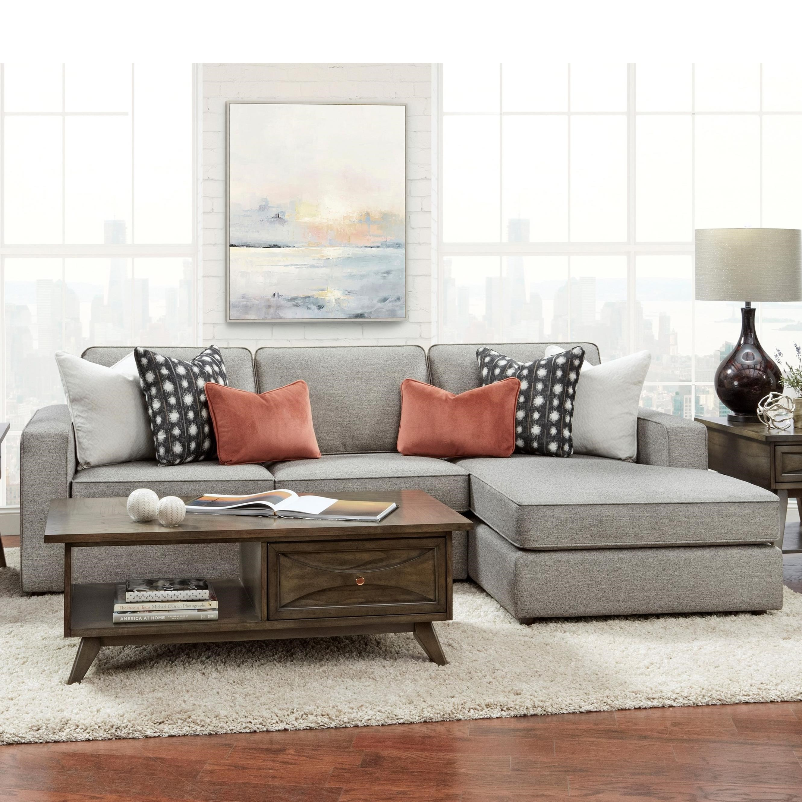 2061 2-Piece Sofa Chaise by Fusion Furniture at Furniture Superstore - Rochester, MN