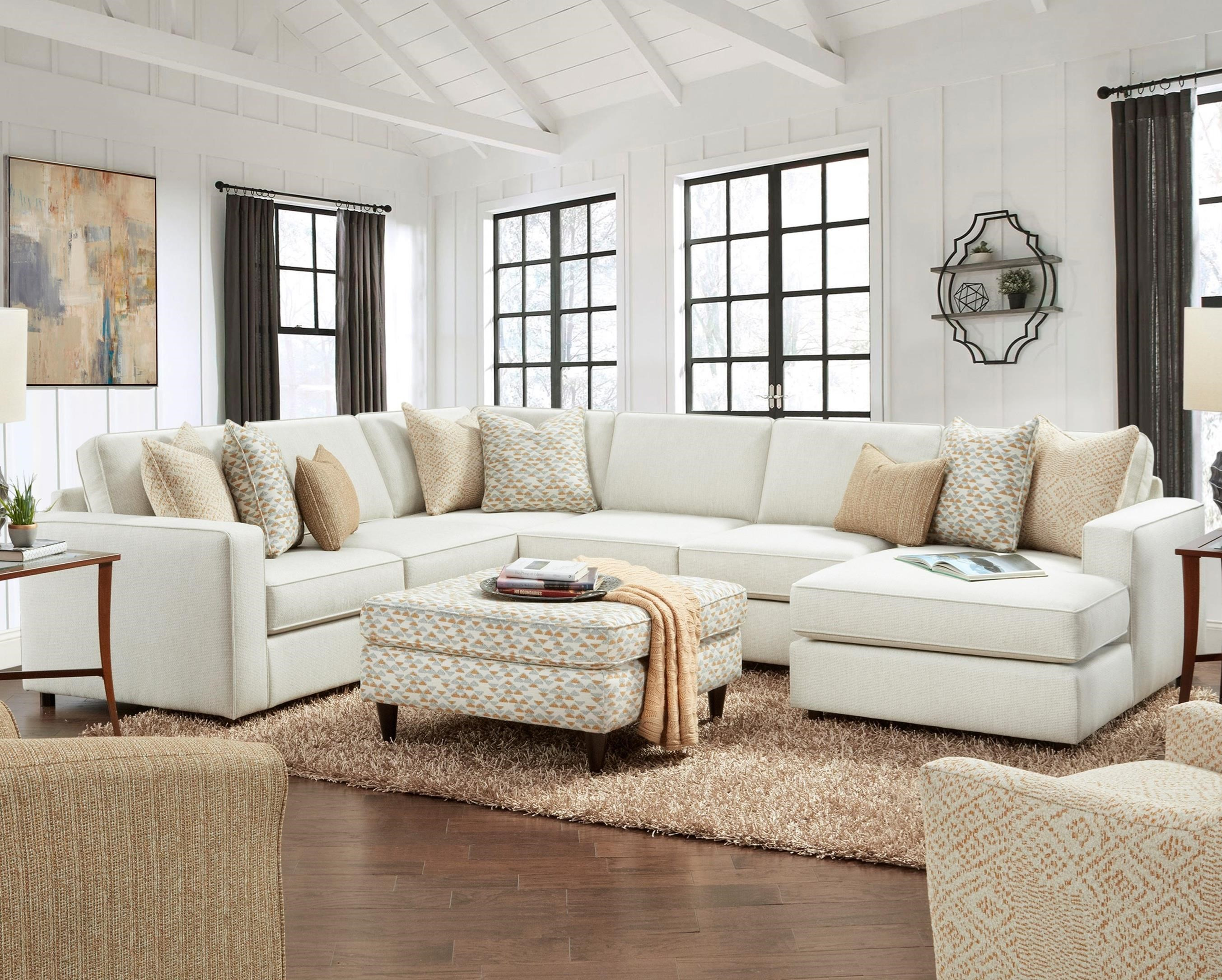 2061 4-Piece Sectional with Chaise by Fusion Furniture at Prime Brothers Furniture
