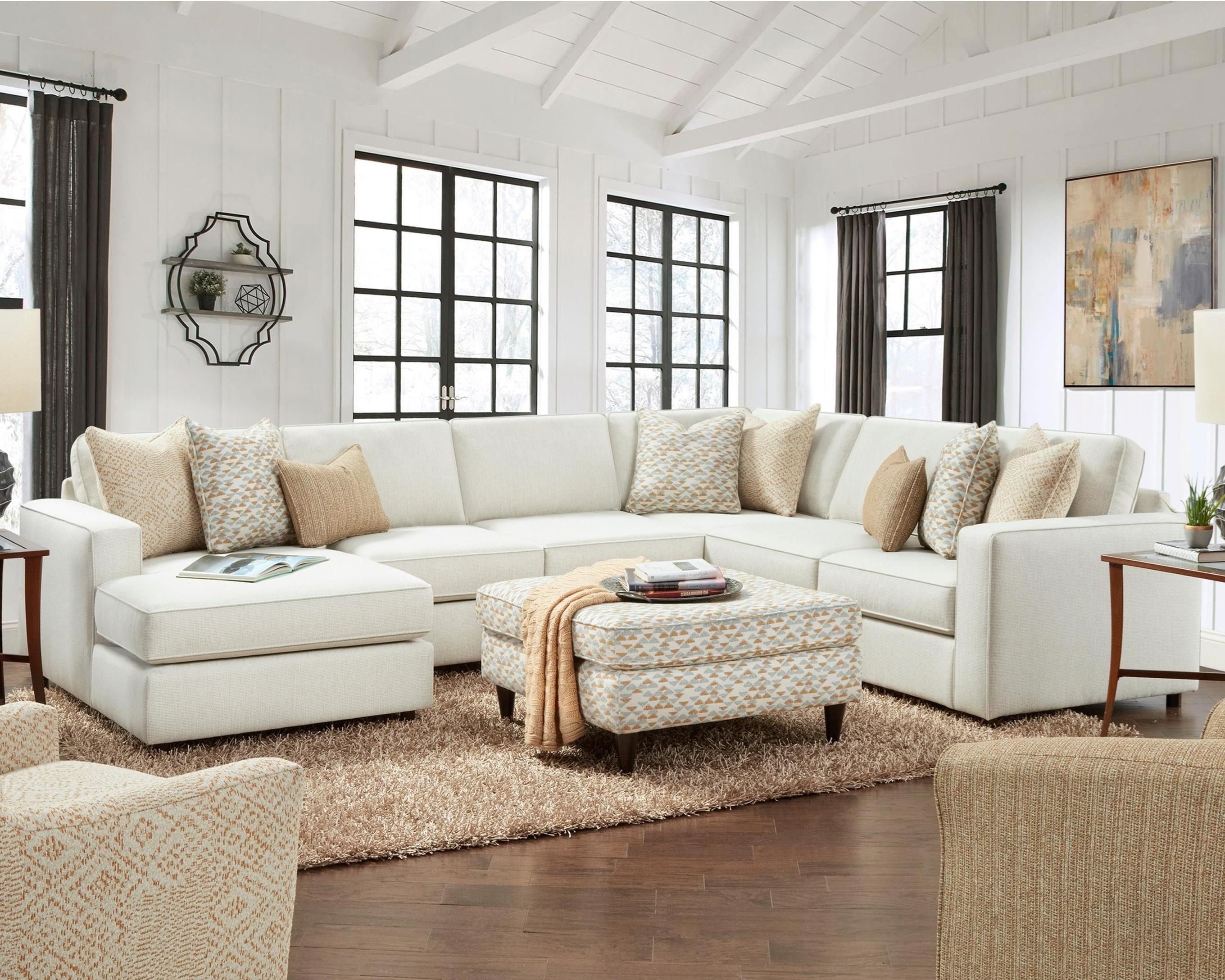 2061 4-Piece Sectional with Chaise by Fusion Furniture at Dean Bosler's