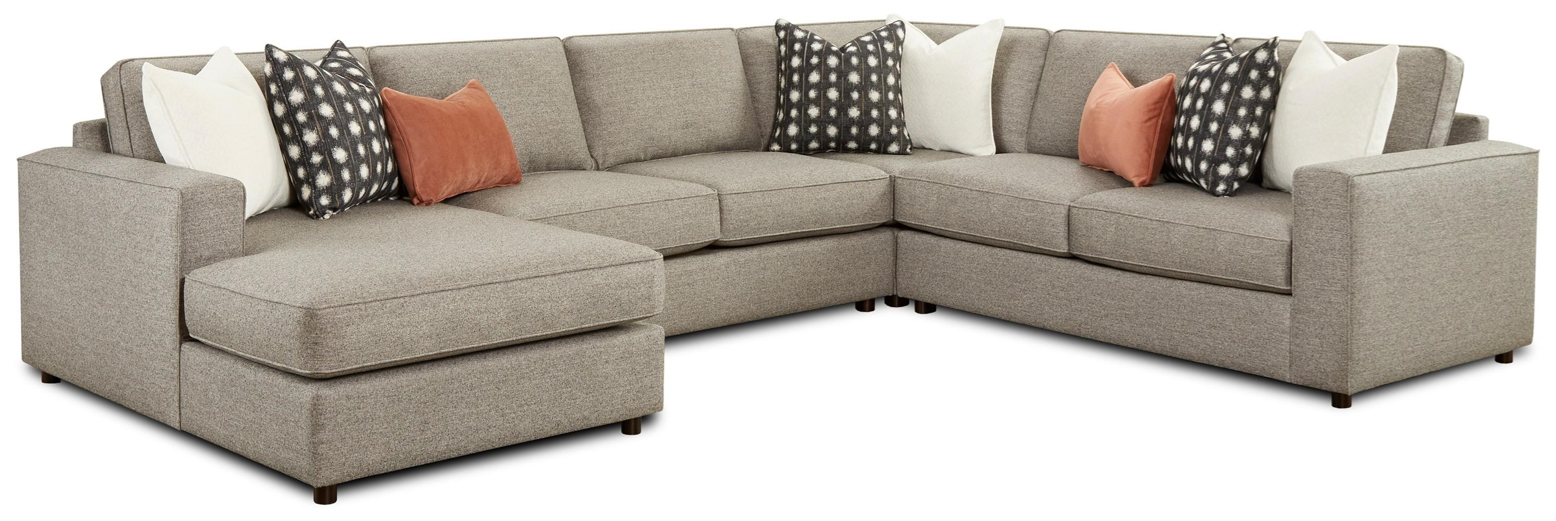 2061 4-Piece Sectional with Chaise by FN at Lindy's Furniture Company