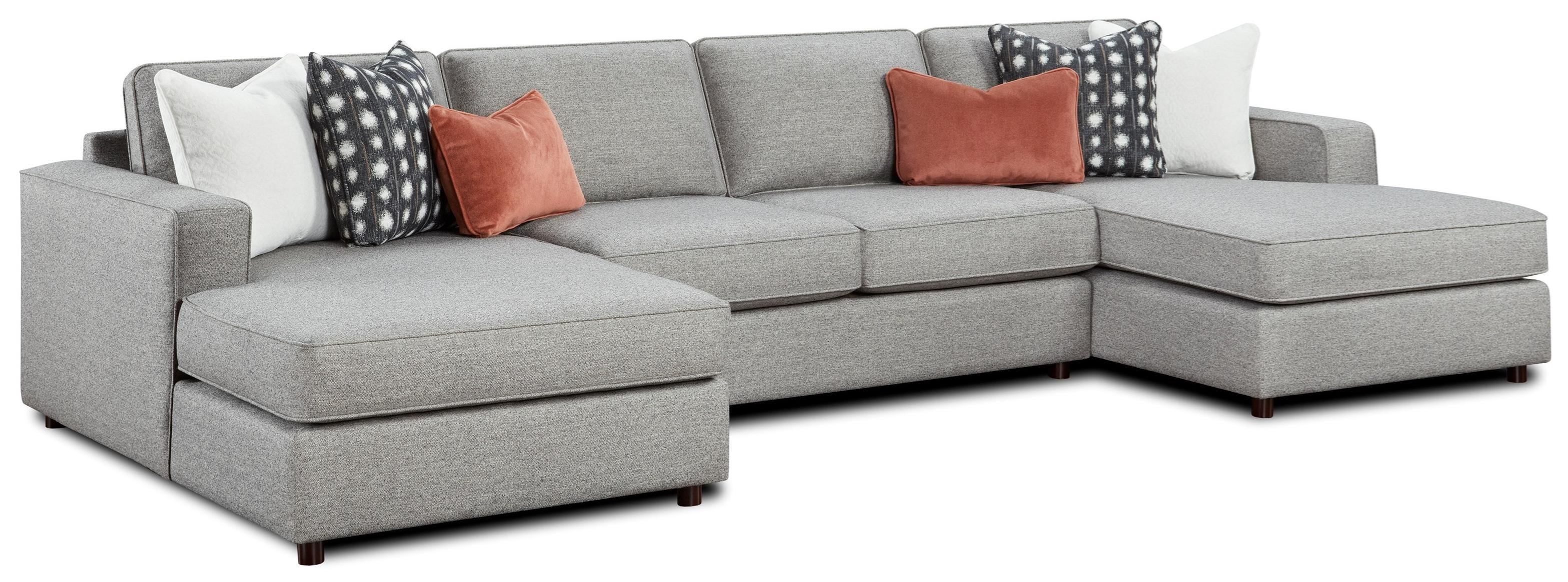 2061 3-Piece Dual Chaise Sectional by Fusion Furniture at Miller Waldrop Furniture and Decor