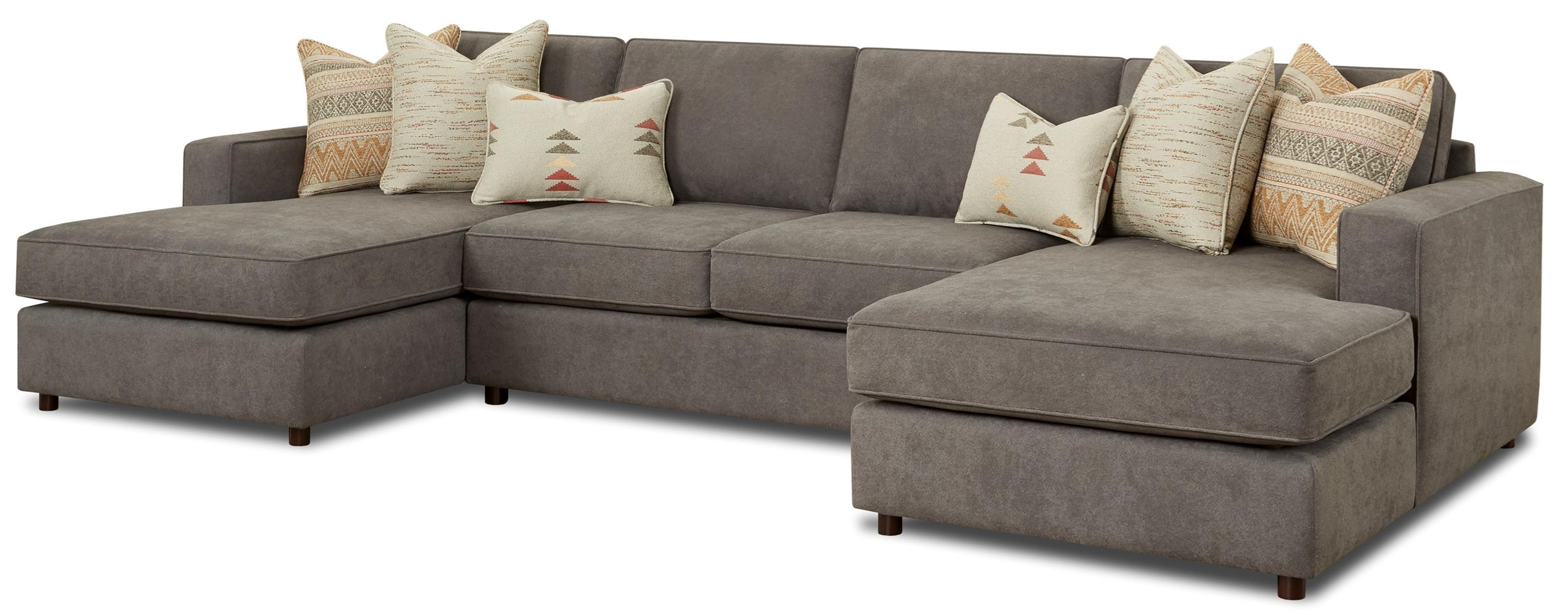 2061 3-Piece Dual Chaise Sectional by Fusion Furniture at Wilson's Furniture