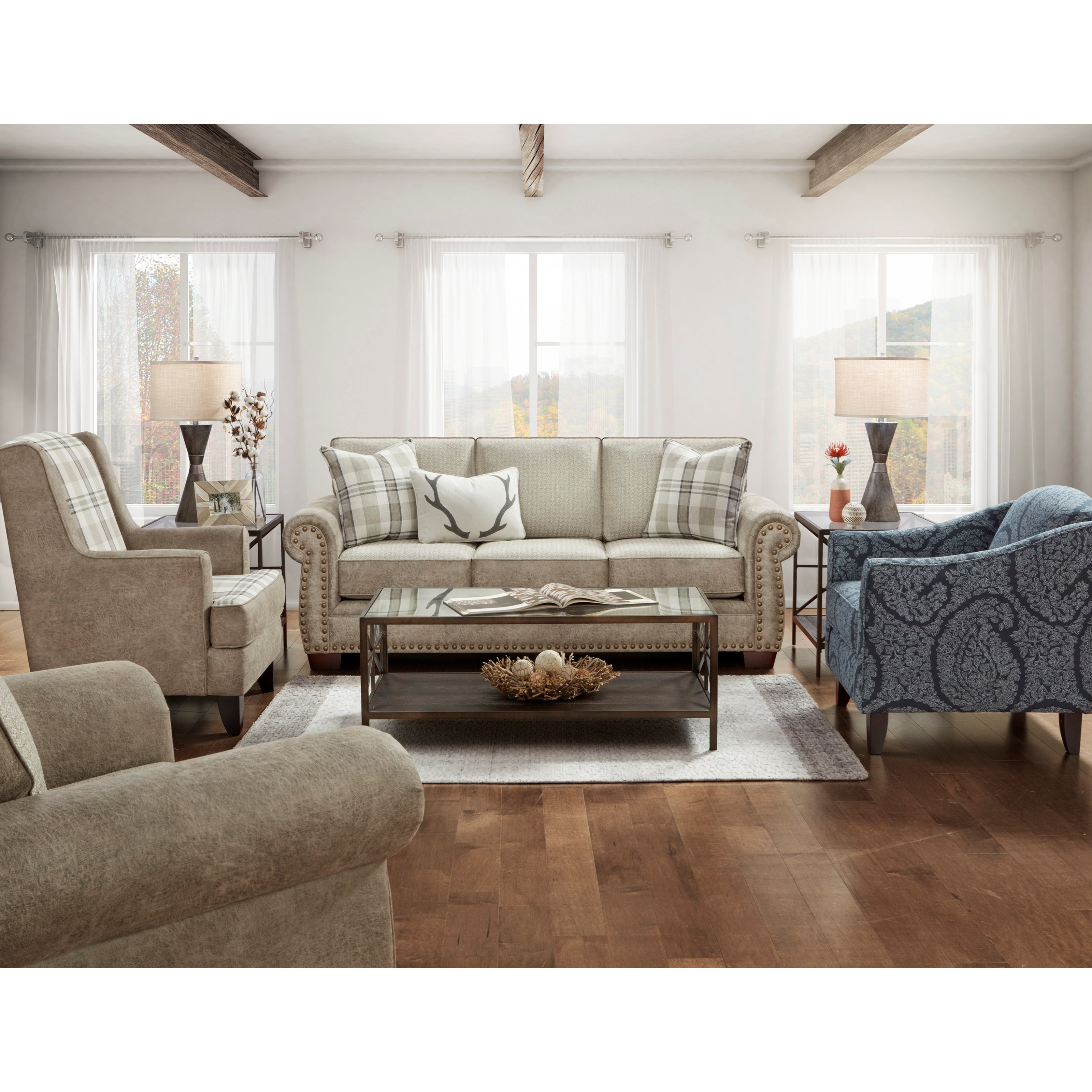 22-00 Living Room Group by Fusion Furniture at Wilcox Furniture