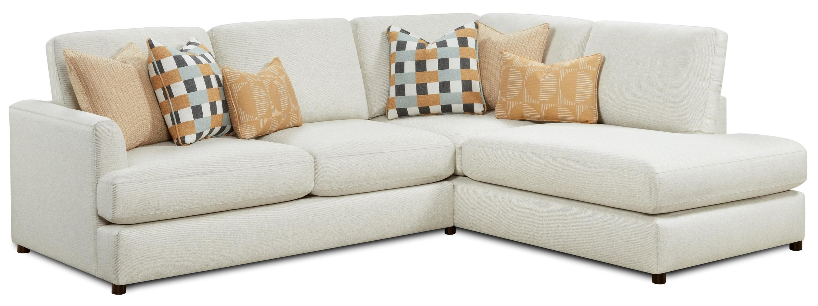 23-00 2-Piece Sectional with Chaise by Fusion Furniture at Prime Brothers Furniture