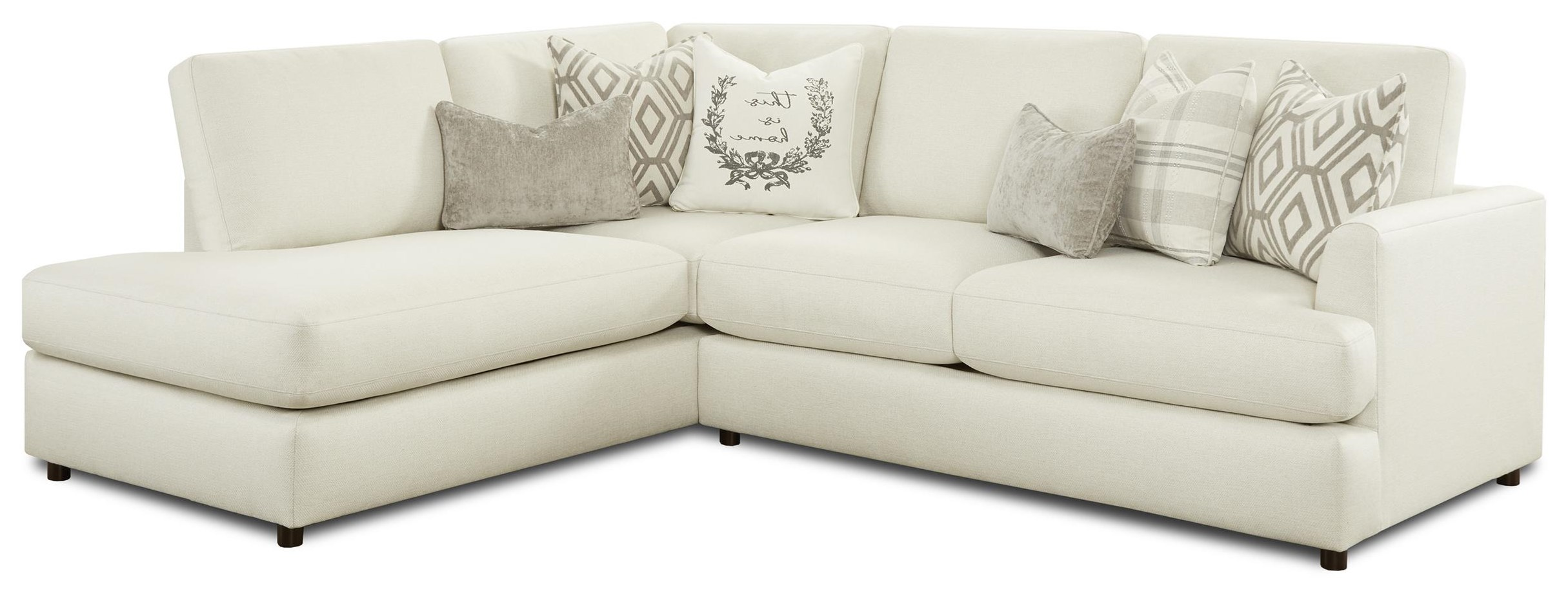 23-00 Two Piece Sectional - RAF Sofa LAF Chaise by Kent Home Furnishings at Johnny Janosik