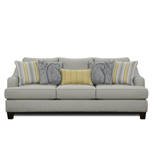 Transitional Sleeper Sofa with Shapely Track Arms