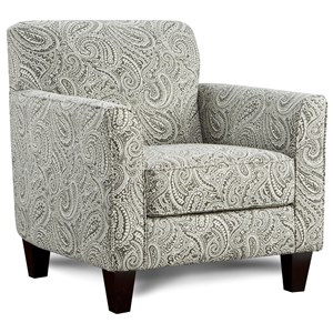 Accent Chair with Flared Arms
