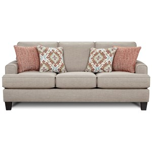 Contemporary Sofa with Small Track Arms
