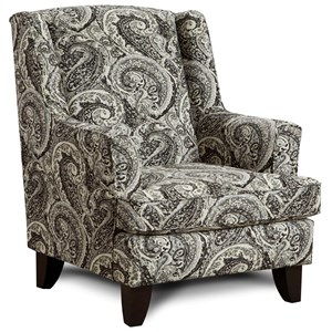 Transitional Wing Back Chair
