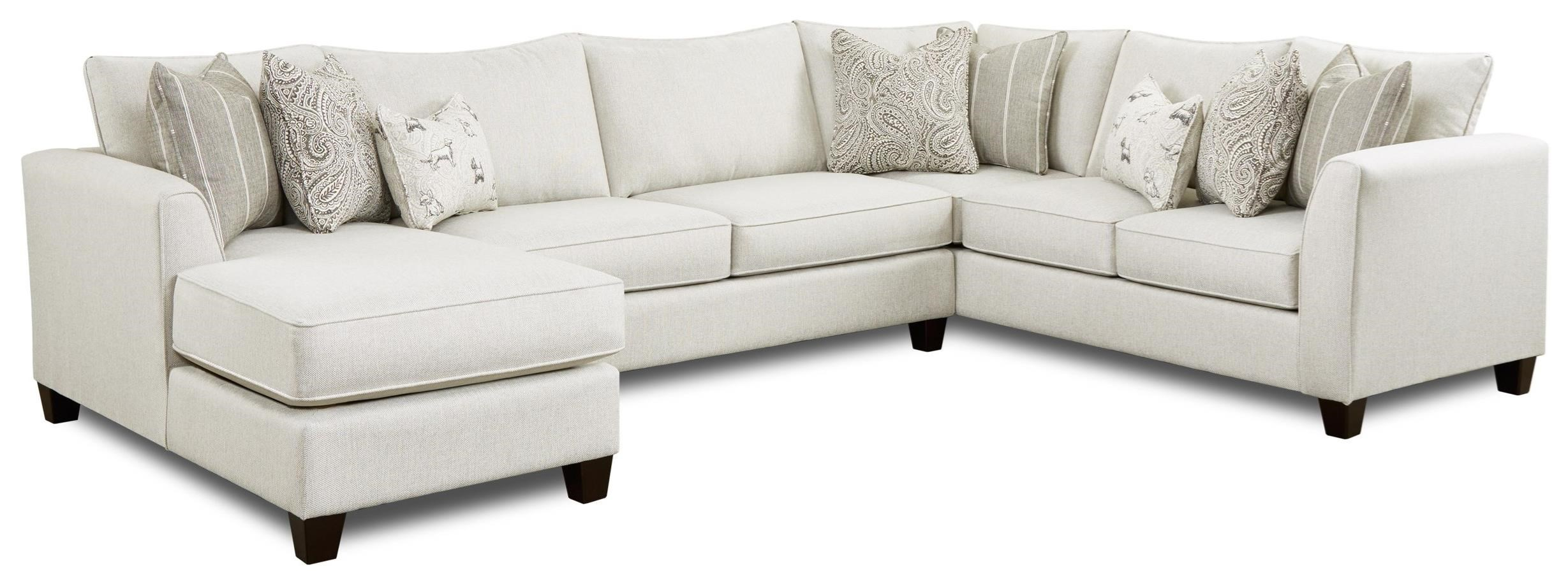 28 3-Piece Sectional with Chaise by Fusion Furniture at Furniture Superstore - Rochester, MN