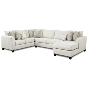 3-Piece Sectional with Right Chaise