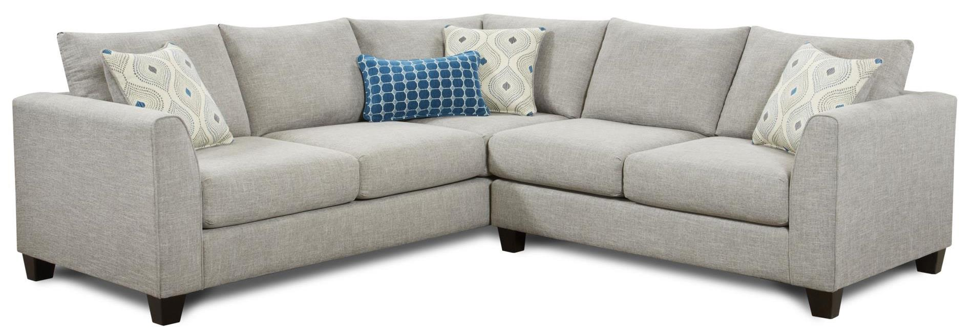 2800 2-Piece Sectional by Fusion Furniture at Miller Waldrop Furniture and Decor