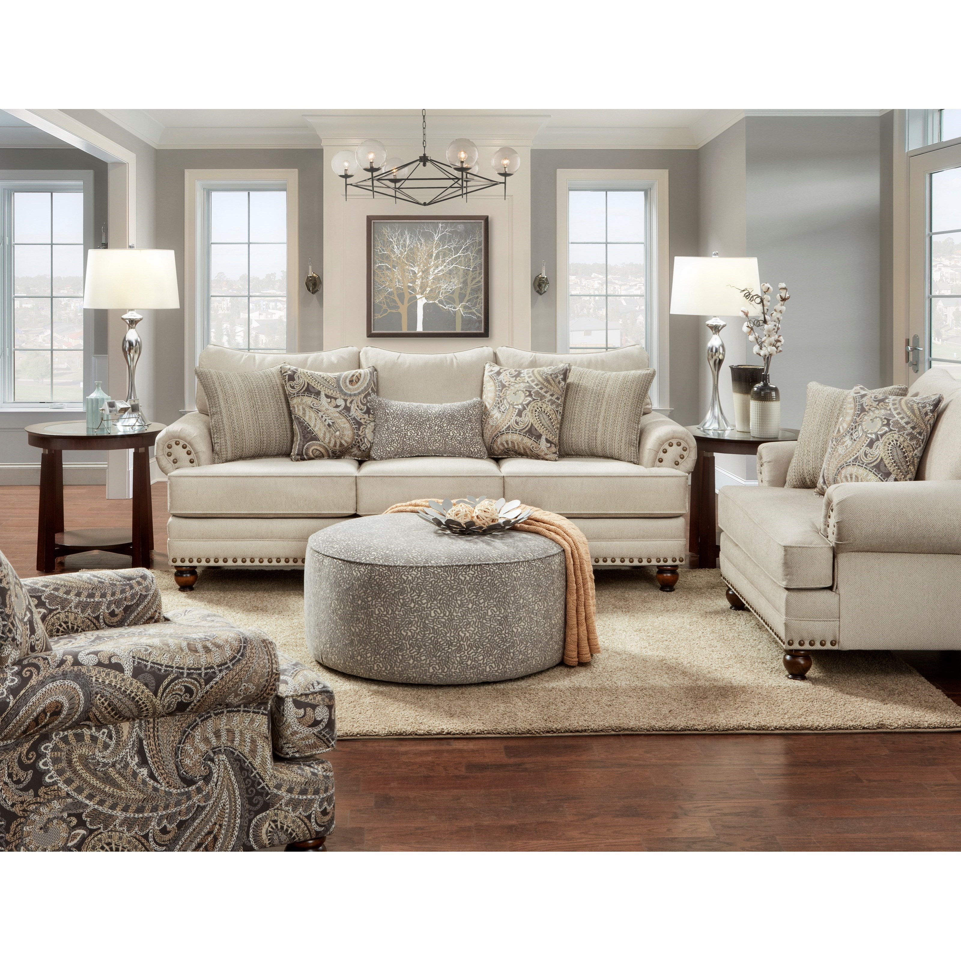 2820 Stationary Living Room Group by Fusion Furniture at Wilson's Furniture
