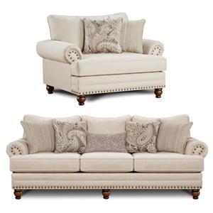 2PC Sofa & Chair Set