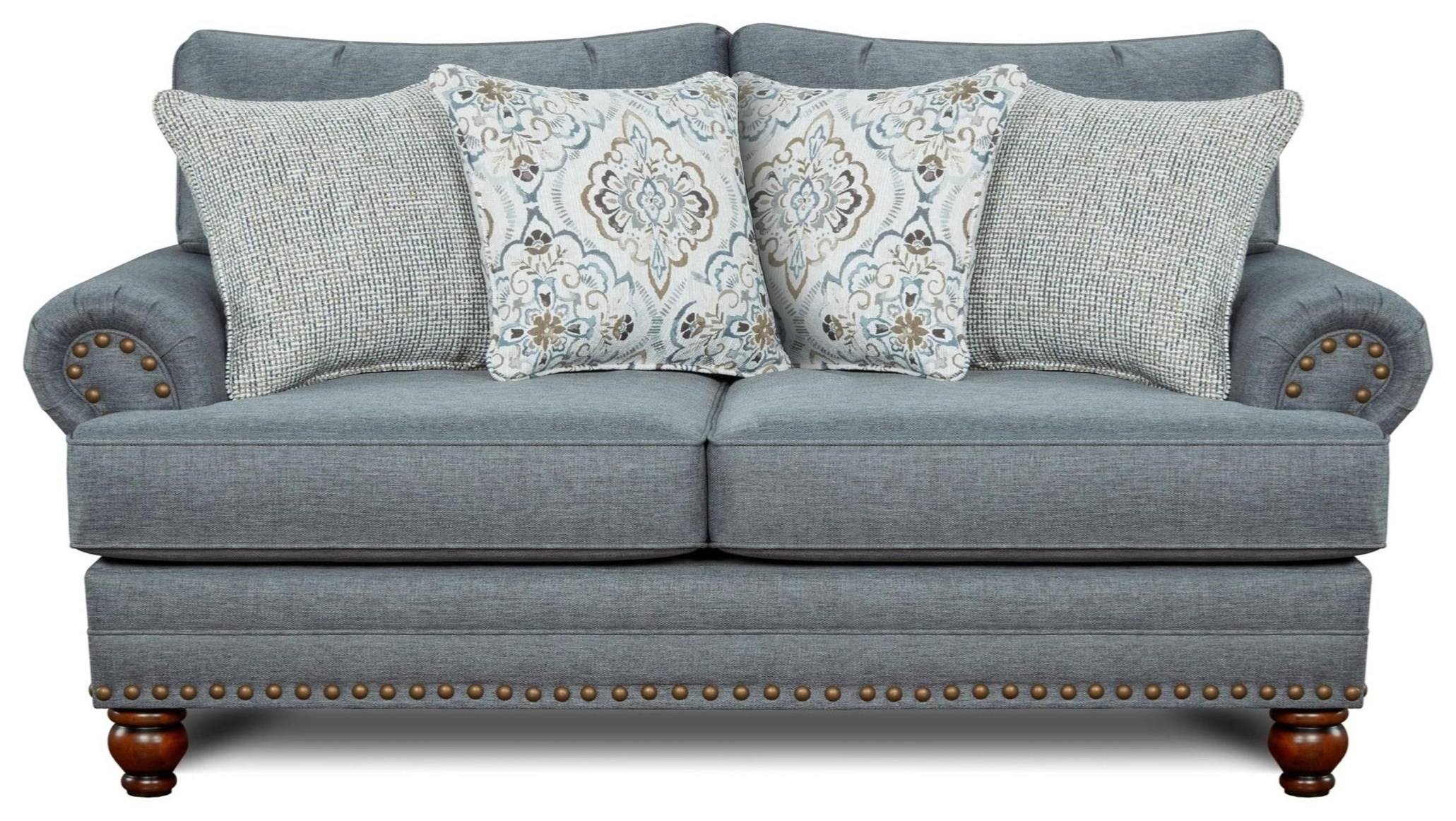 2820 Traditional Loveseat by Kent Home Furnishings at Johnny Janosik