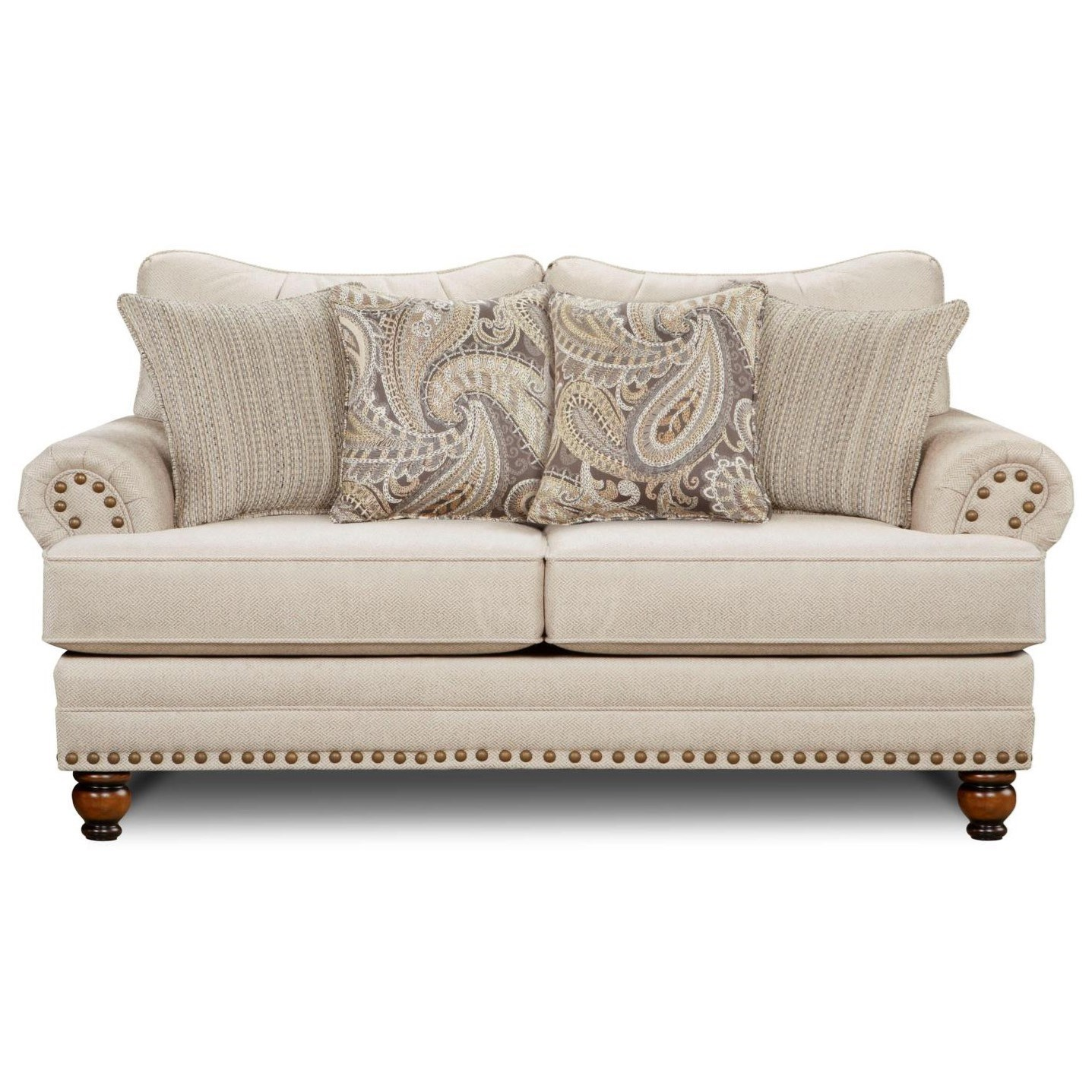 2820 Traditional Loveseat by Powell's V.I.P. at Powell's Furniture and Mattress