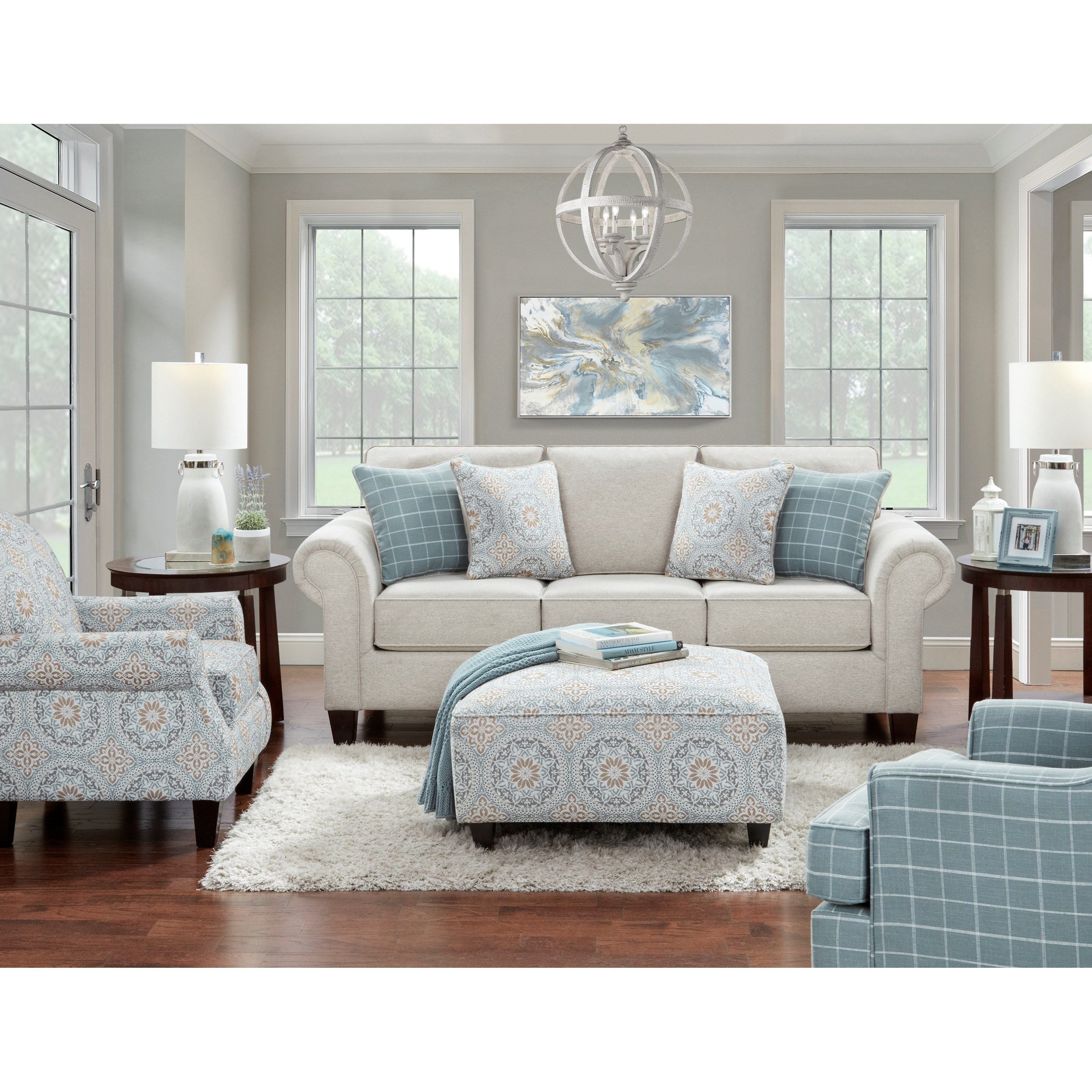 3100 Living Room Group by Fusion Furniture at Miller Waldrop Furniture and Decor