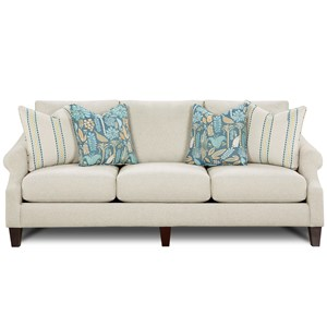 Sofa with Rolled Arms and Loose Back Cushions