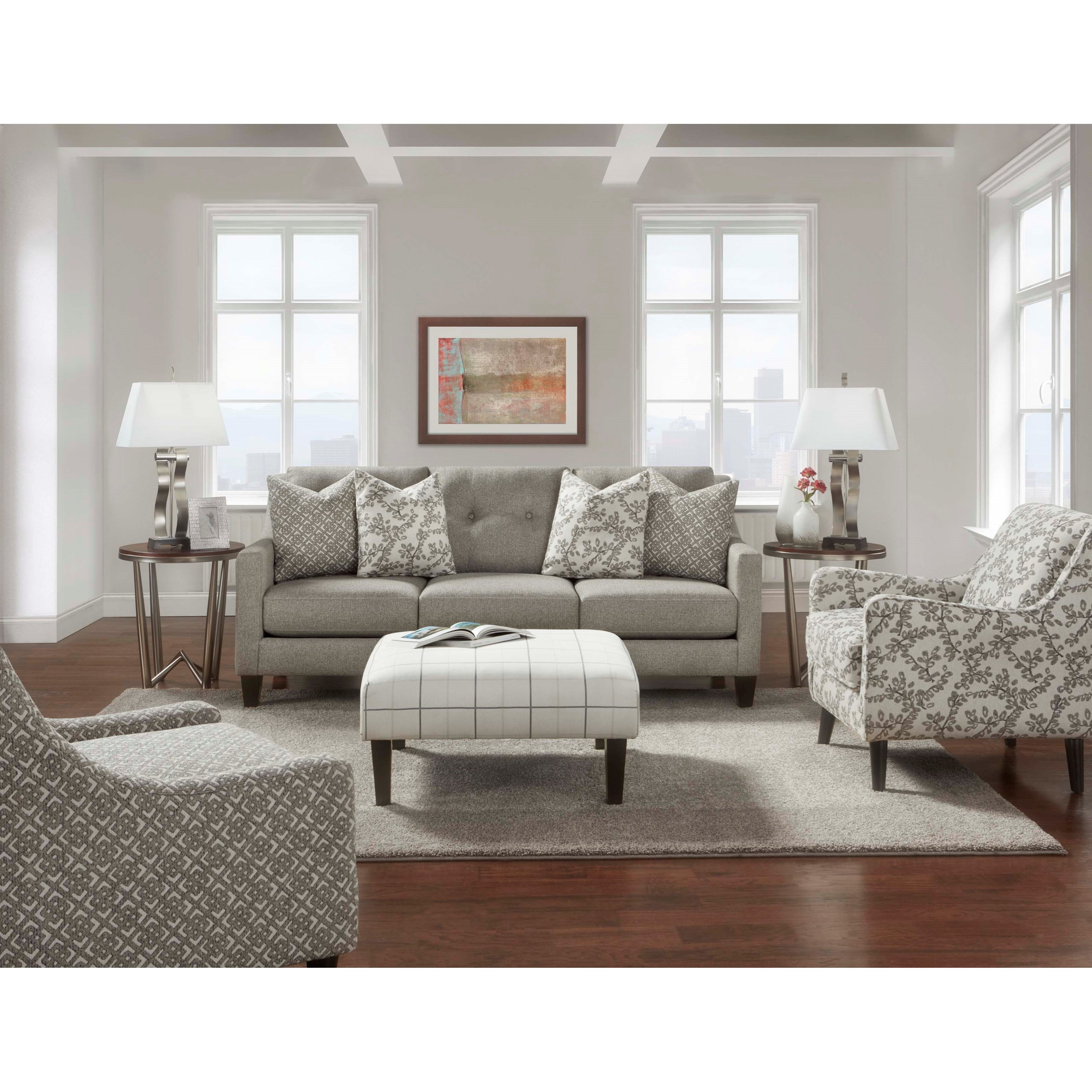 3280 Stationary Living Room Group by Fusion Furniture at Furniture Superstore - Rochester, MN