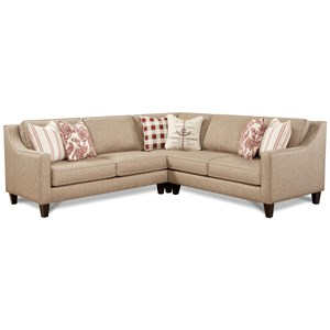 3-Piece Sectional with Sloped Track Arms