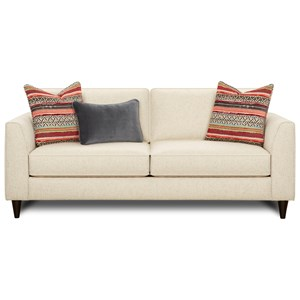 Contemporary Sofa with Tapered Track Arms