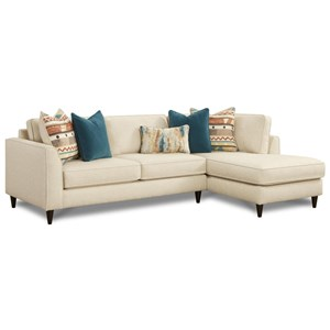 2-Piece Contemporary Sectional Sofa with Right Arm Facing Chaise