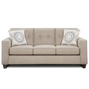 Contemporary Sofa with Track Arms and Button Tufted Cushions