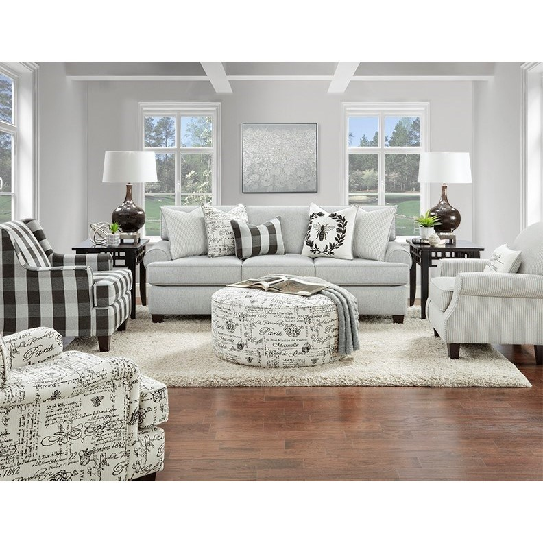39-00 Living Room Group by Fusion Furniture at Miller Waldrop Furniture and Decor