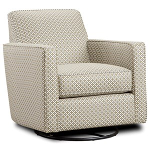 Contemporary Swivel Glider with Track Arms