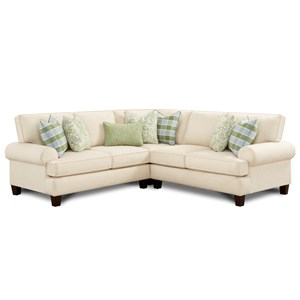 L-Shaped Sectional with Reversible Cushions
