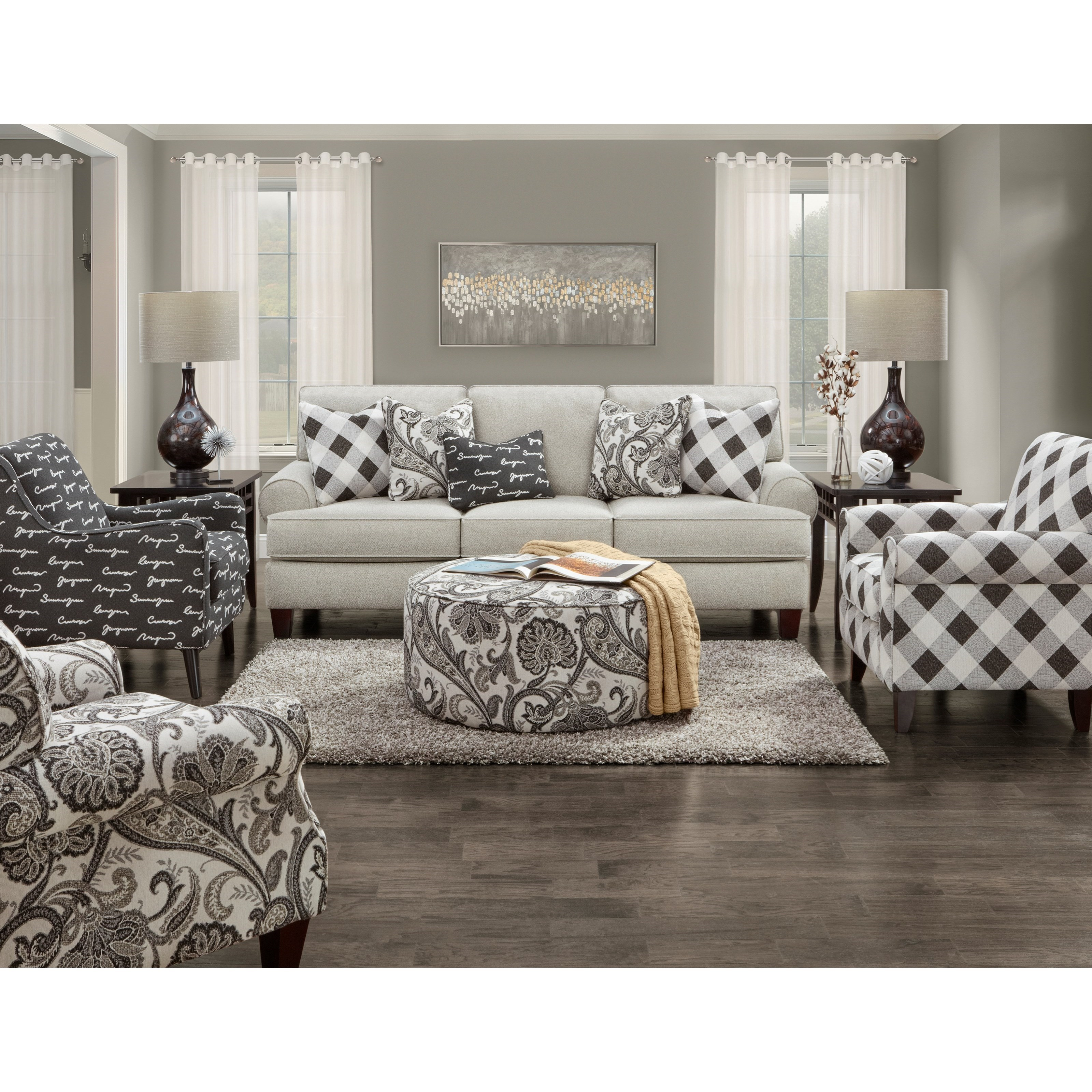 4200 Stationary Living Room Group by Fusion Furniture at Miller Waldrop Furniture and Decor