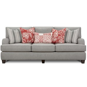 Contemporary Sofa with Kidney Pillow
