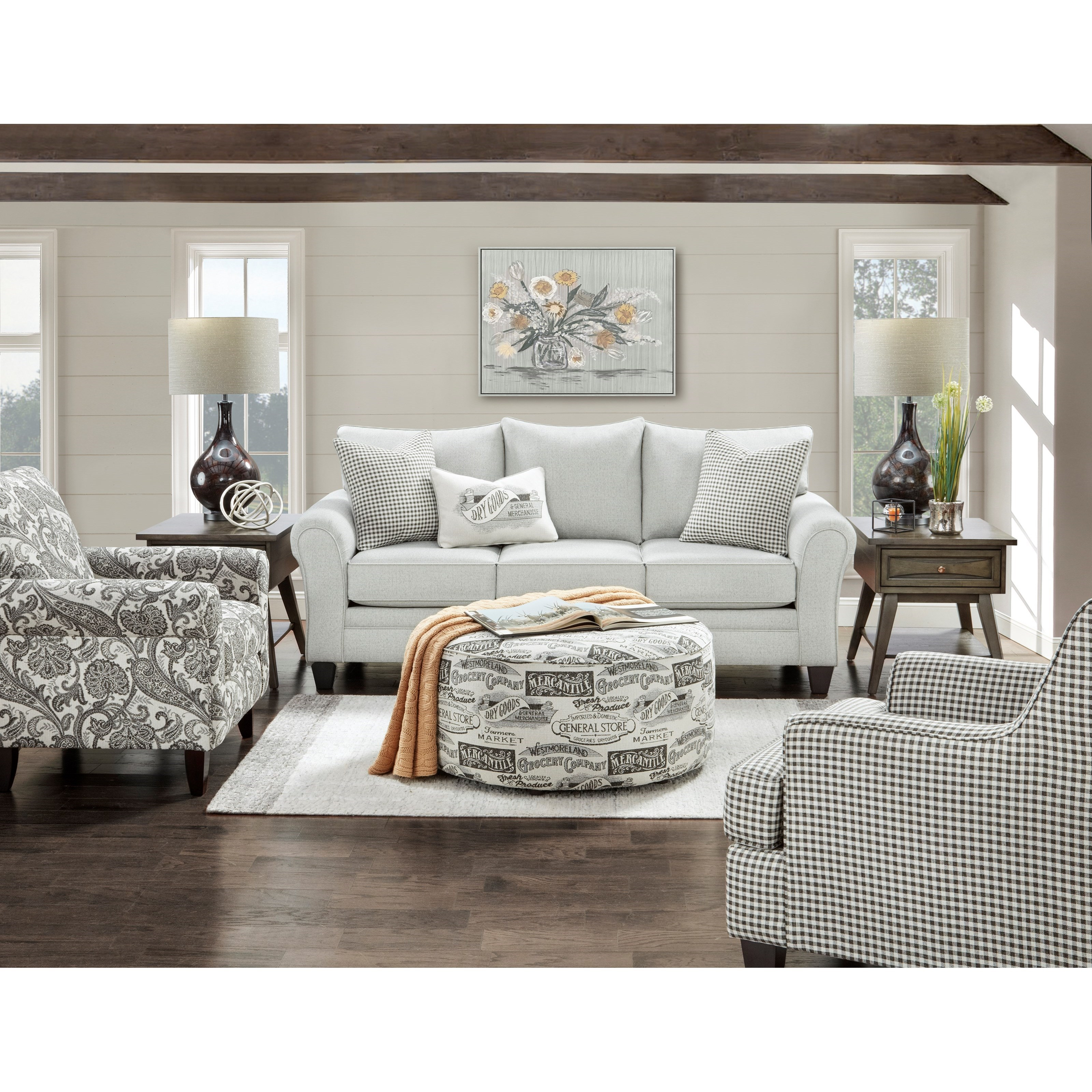 44-00 Living Room Group by Fusion Furniture at Miller Waldrop Furniture and Decor