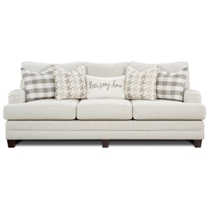 Transitional Sofa with Setback Arms