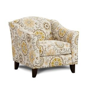 Alpenrose Daisy Accent Chair with Tapered Legs