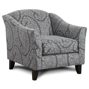 Contemporary Accent Chair with Tapered Legs