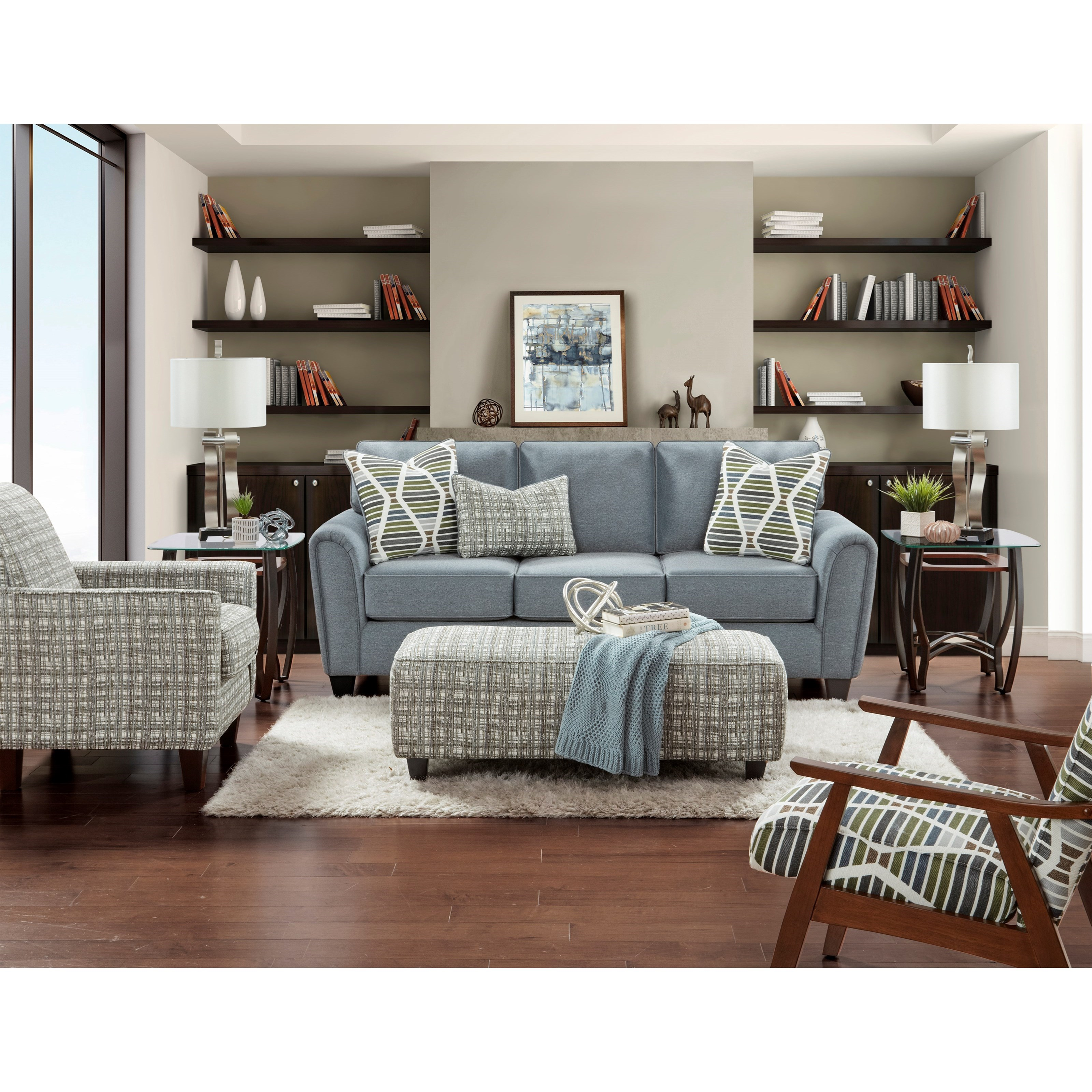49-00 Living Room Group by Fusion Furniture at Miller Waldrop Furniture and Decor