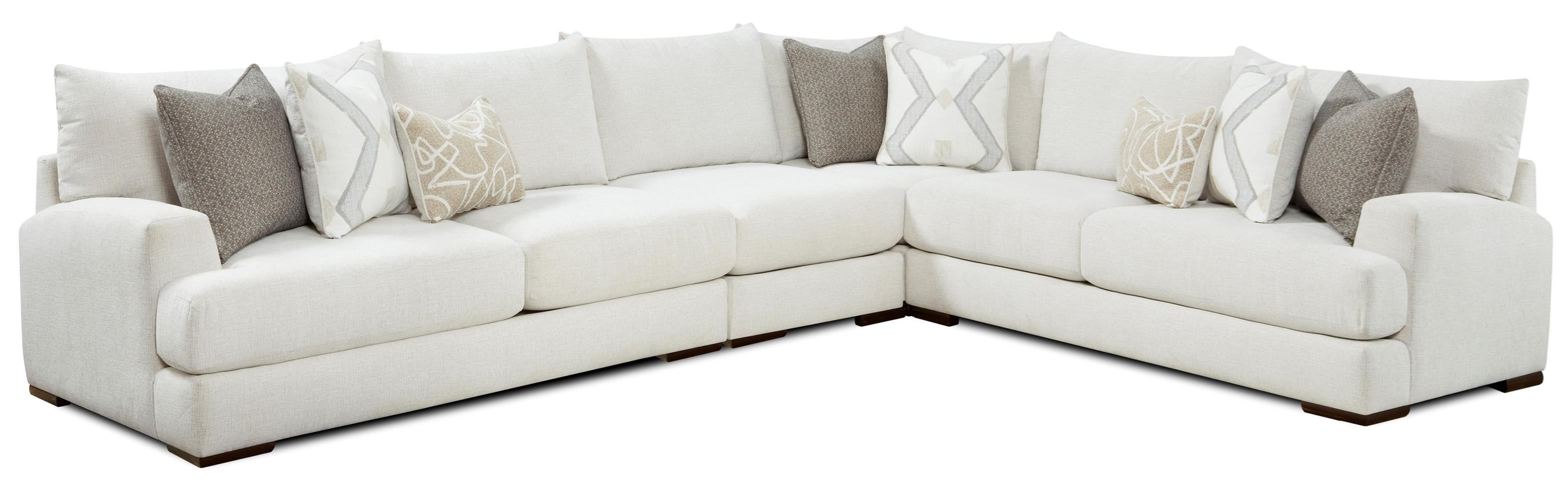 51-00 4-Piece Sectional by Fusion Furniture at Furniture Superstore - Rochester, MN