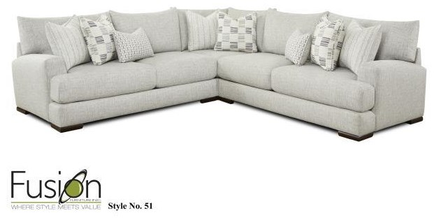 51-21L-R-15 3 PC Sectional by Fusion Furniture at Furniture Fair - North Carolina