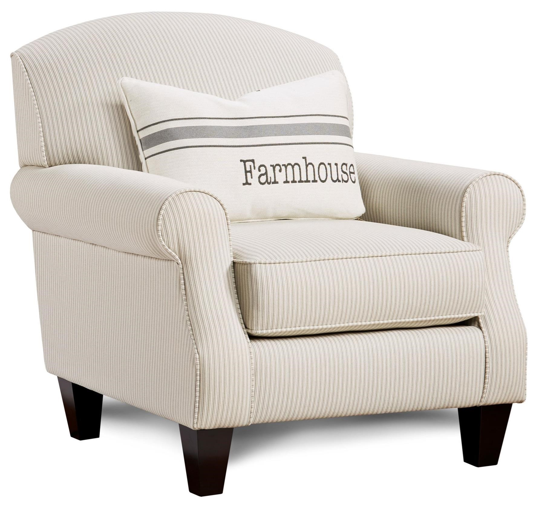 532 Accent Chair with Kidney Pillow by FN at Lindy's Furniture Company