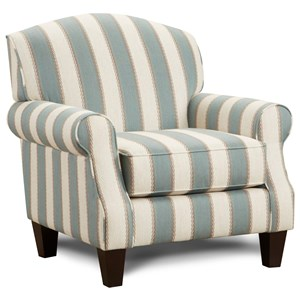 Accent Chair with Rolled Arms