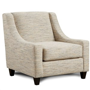 Upholstered Accent Chair with Low Profile Arms